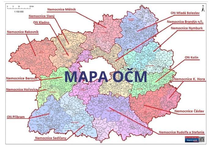 Mapa OČM