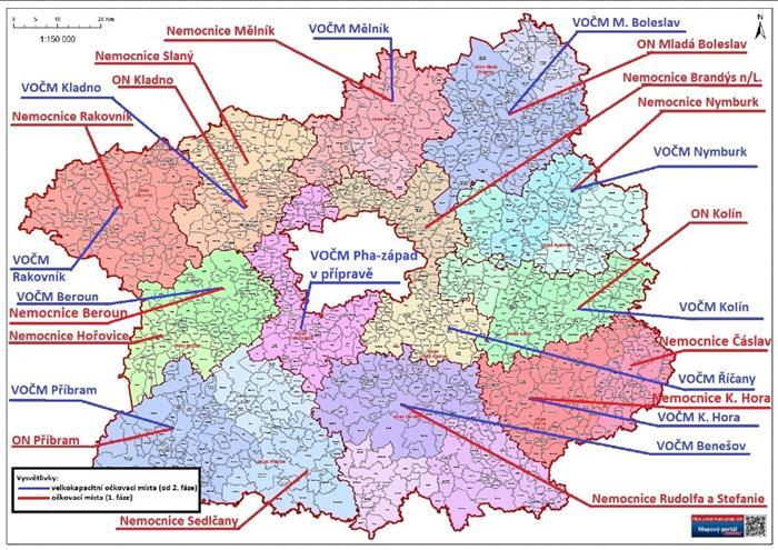 Mapa VOČM